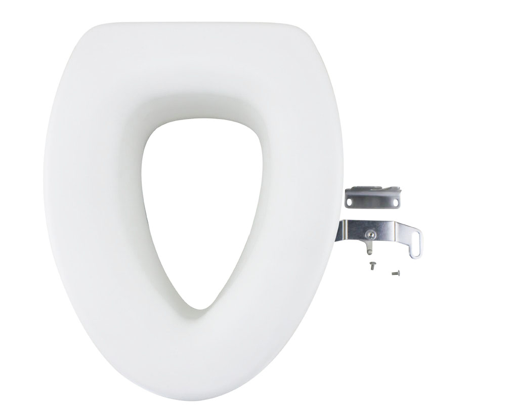 4 9 Inches Quick Install Assisting Elevated Raised Toilet Seat Elongated Ty