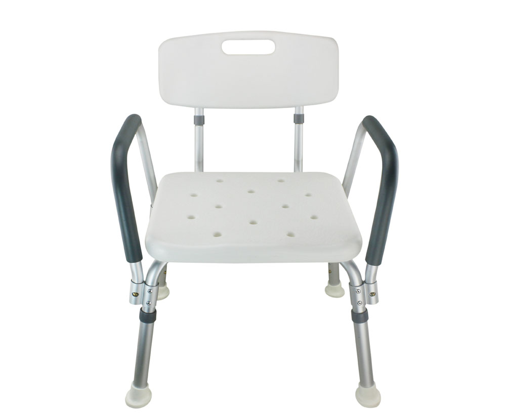 Legs Adjustable Bathroom Shower Chair with Handle and Backrest ...