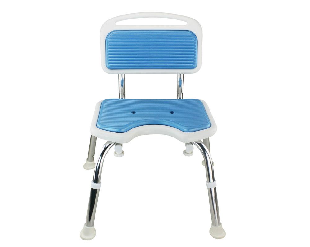 Tool-Free EVA Slip Soft Mat Legs Adjustable Bathroom Shower Chair ...
