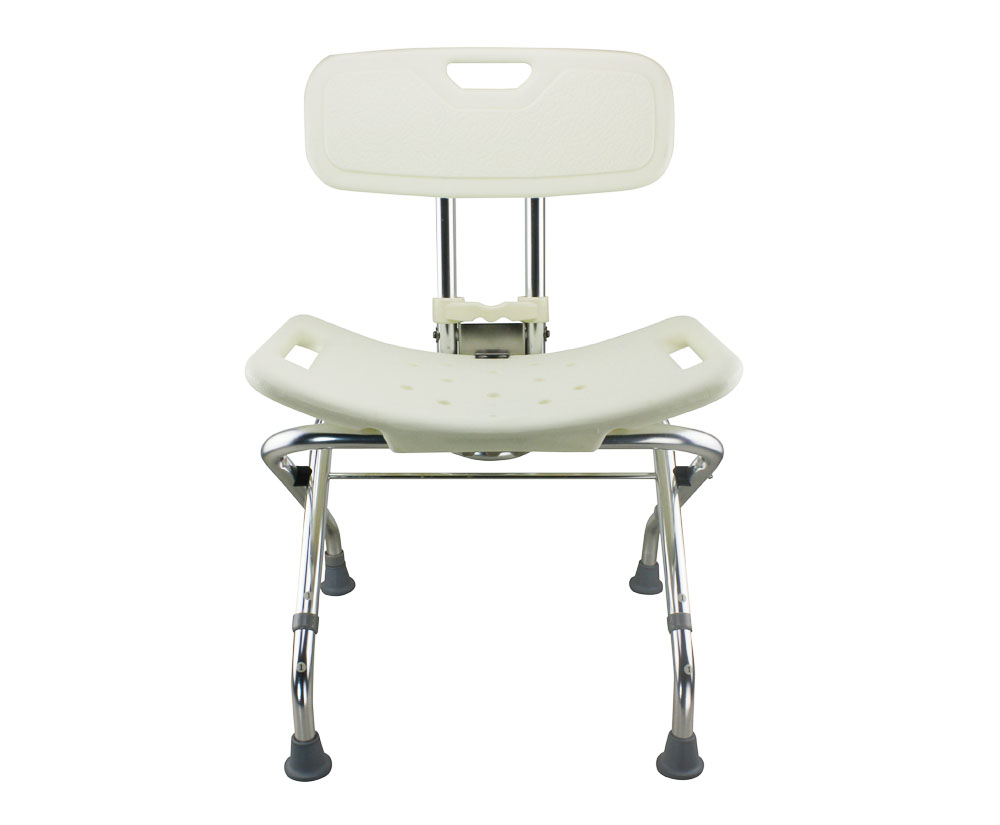 Tool-Free Foldable Legs Adjustable Bathroom Shower Chair with ...