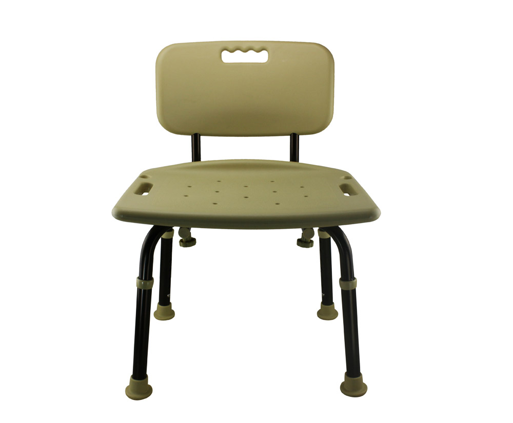 Tool-Free Legs Adjustable Bathroom Shower Chair with Backrest ...