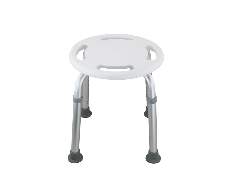 Tool-Free Legs Adjustable Bathroom Round Shower Chair - Shih Kuo ...