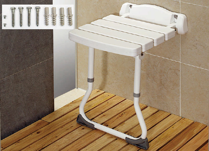 Wall-Mount Shower Seat With Floor Bracket - Shih Kuo Enterprise Co ...