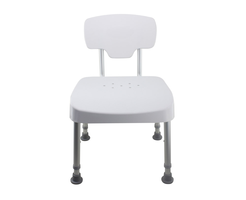 Tool-Free Legs Adjustable DURA Shower Tub Chair with Backrest - Shih ...
