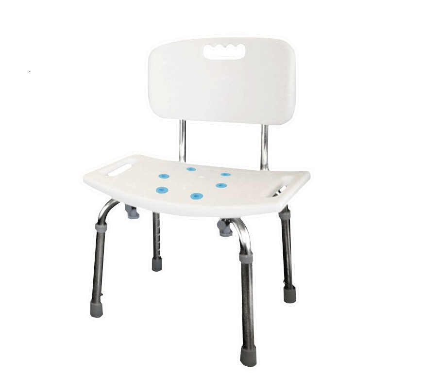 Tool Free Adjustable Shower Chair With Back Rest & Non-slip Pads ...